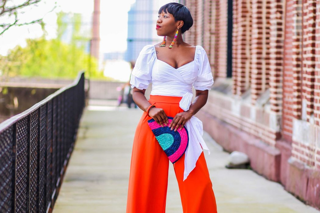 Bright Pants and Bold Sleeves for Spring